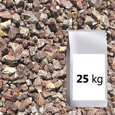 Zierkies rot, Marmorsplitt, Gartenkies 12-16mm 25kg Sack, Rosso, gebrochen