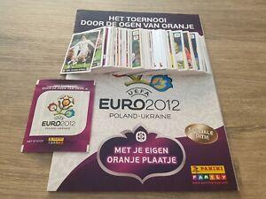 Panini Euro 2012 Complete set + Empty album + packet Very rare Dutch issue EM 12