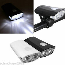 Schrodinger10028 Black Bicycle Cycle Front Head Light USB Rechargeable