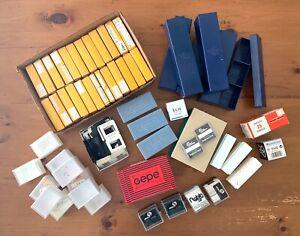 Large Lot Vintage 35mm Transparency Slide Boxes, Mounts, Levels, Guides