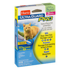 Hartz UltraGuard Plus FLEA & TICK DROPS x3 Monthly Treatments Cats Kittens PETS
