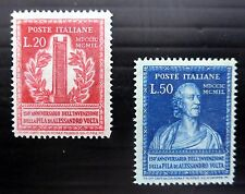 ITALY 1949 SG737/8 Lightly Mounted Mint Cat £200 FP9817