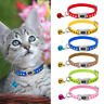 6/12/18/24pcs Wholesale Nylon Paw Print Cat Kitten Small Dog Collar with A Bell