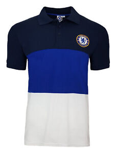 Official Chelsea FC Football Block Polo Shirt Mens Large CHP24