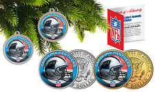 CAROLINA PANTHERS Christmas Tree Ornaments JFK Half Dollar US 2-Coin Set NFL
