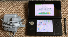 *Nintendo 3DS* Cosmo Black Handheld Console with Stylus & Charger*