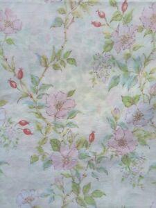 Vintage 1970s DOUBLE DUVET COVER Quality Fabric Floral Cottagecore Butterflies