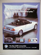 BMW 323Ci Convertible PRINT AD - 2000 ~~ Beverly Hills BMW