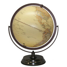 MAGNIFICENT QUALITY Embossed Raised Relief Gimbal Arm World Globe Home Decor30cm