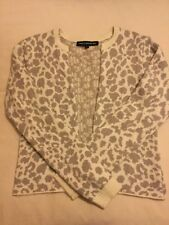 FRENCH CONNECTION Animal Print Open Front Cardigan Sweater Jumper Size L