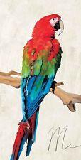 Teo Rizzardi: Me Keilrahmen-Bild 35x70 Leinwand Papagei Vögel Ara
