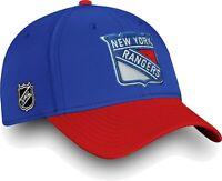 NHL New York Rangers HOCKEY MEN'S  Tech Speed Flex Hat Blue/Red S/M, M/L, L/XL