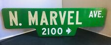 MARVEL STREET SIGN AUTHENTIC VINTAGE DOUBLE SIDED REFLECTIVE CALIFORNIA COMICS