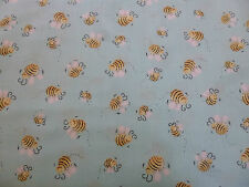 Susybee, Craft/patchwork, Bees, blue, 100% cotton Fabric, fat quarter