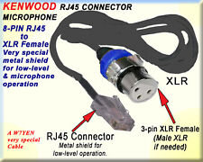 KENWOOD, MICROPHONE AMATEUR HAM CABLE RJ45, RJ-45to XLR FEMALE (male if needed)
