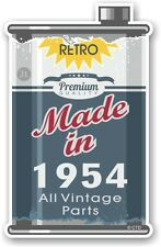 Aged Metal Tin Oil Can MADE IN 1954 Retro Novelty Ratlook Motorcycle car sticker