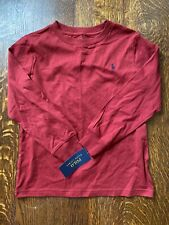 NWT Boys' Polo Ralph Lauren Brick Red Long Sleeve Shirt-Size 6