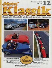 0099MK Motor Klassik 1988 12/88 BMW 750iL Audi 90 Midget FMR Tiger Saxonette