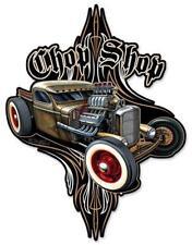 HOT ROD RAT ROD CHOP Shop Metal Sign Man Cave Garage Body SHOP Cabin Shed BARN