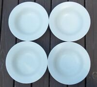 LOT OF 4   Lindt Stymeist   LINEN  Rimmed Soup Bowls  8 1/2 inches across top
