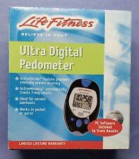 Life Fitness Ultra Digital Pedometer New In Box Tracks Aerobic Workouts