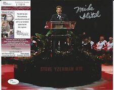 MIKE ILITCH SIGNED DETROIT RED WINGS STEVE YZERMAN RETIREMENT 8X10 PHOTO JSA COA