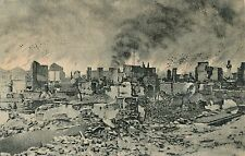 POSTCARD  MILITARY  WWI  SALONIKA    Burnt part of high town