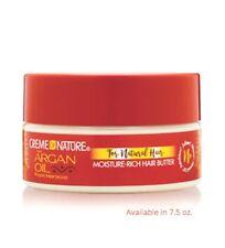 Creme of Nature Argan Oil Moisture-Rich Hair Butter for Soft Hair Curls 7.5oz