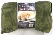 Couchage, paniers et corbeilles lavable en machine vert pour chien