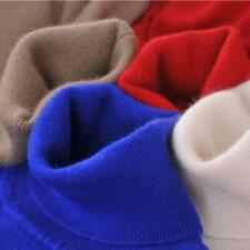 Womens Long Sleeves Cashmere Sweaters Winter  Neck Turtleneck Pullover