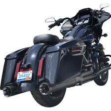 S&S Black Sidewinder 2-1 Ghost Shadow Pipe Muffler Exhaust Harley Touring 09-20