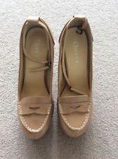 BNIB Ladies UK Size 4 (Eur37) Nude Brogue Style Heels With Detachable Strap