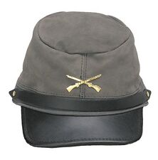 Civil War Cap The Rebel Grey Suede Cap Military Hat Adjustable Cap Made in USA