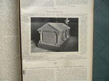 1899 Bismarck Sarkophag Döhlen Gedenksteine