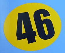 CLASSIC VINTAGE STYLE GP TT BIKE RACE NUMBERS SET OF 3! Ducati BMW AJS TRIUMPH