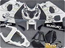COQUES ABS SUZUKI GSX R 600/750 04/05 DESIGN ENGRENAGE BLANC MOULE