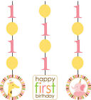 SWEET AT ONE GIRL 1st Birthday Party Range - Tableware Balloons & Decorations