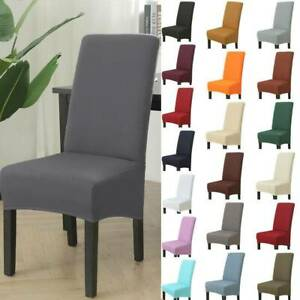 1/4/6pcs High Back Dining Chair Covers Stretch Removable Slipcovers Home Decor~