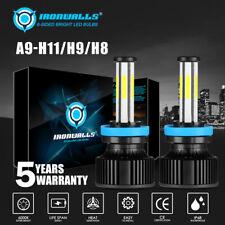 6 Sides White H11 LED Headlight Conversion Kit Low Beam Bulbs Super Bright 2800W