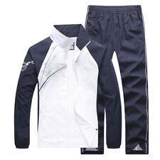 2PCS Mens Sweater Casual Tracksuit Sport Suit Jogging Athletic Jacket+Pants New