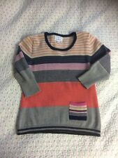 Heavenly Soft ANTONI&ALISON Pure Merino Stripy Jumper With A Pocket-size 10. VGC