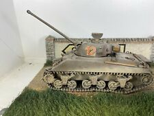 British Sherman M4A1 Tank Built 1/35 1/32 4a Diorama Welded Hull Weathered