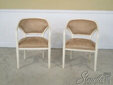 36718E: Pair Modern Design Suede Decorator White Chairs ~ New