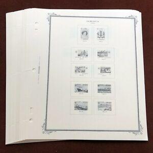 JAMAICA 1983-92 SCOTT SPECIALTY Stamp Album Pages, Complete, Unused