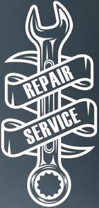 """small 8x4"""" mechanic plumber builder repair service car bonnet vinyl side sticker"""
