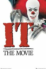 IT 1990 PENNYWISE THE CLOWN STEPHEN KING 91.5X61CM  POSTER NEW OFFICIAL MERCH