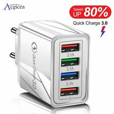4 USB  Fast Charging Mobile Charger Adapter for all mobile phones Quick Charge 3