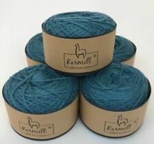 Alpaca Wool Skeins 100% Baby Alpaca Yarn Lot of 5 Pacific Color 5M003