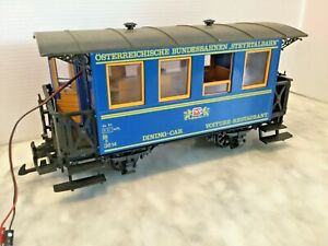 LGB G SCALE # 3614 DINING CAR MADE IN GERMANY -WORK