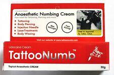 30g TattooNumb skin numb numbing cream painless piercings waxing laser Dr